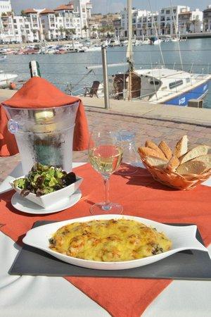 brasero : le gratin de fruits de mer du chef