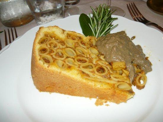 Gli Orti di via Elisa : timballo al forno con fegatini