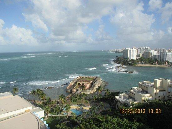 Caribe Hilton San Juan : Ocean Views from Hotel Room Balcony
