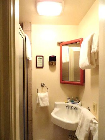 Flag House Inn: bathroom with shower