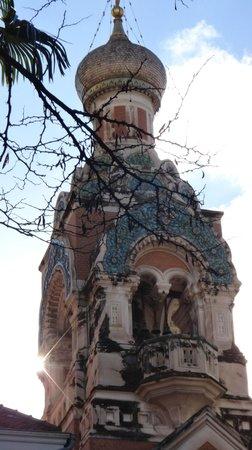 St Nicholas Orthodox Cathedral, Nice: La torre campanaria
