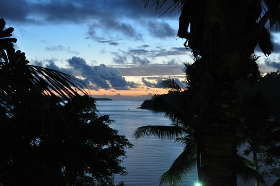 Fatumaru Lodge: sunset from the balcony