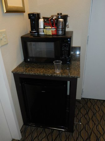 Holiday Inn & Suites Across from Universal Orlando: the mini fridge