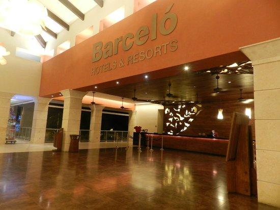 Barcelo Bavaro Palace: Recepção