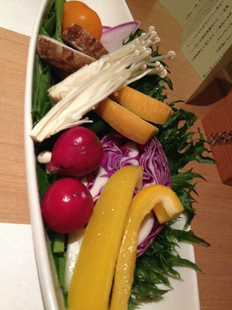 Hakone Manatee: First course of the Kaiseki meal: local vegetables