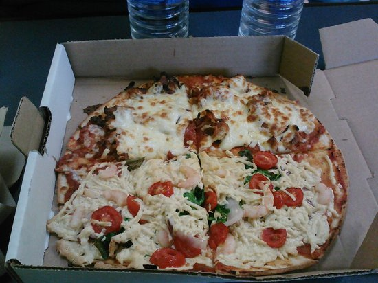 The Pit Stop: Mediterranean/ All Meat Pizza