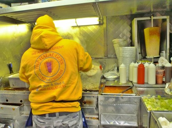 The Halal Guys: the yellow hoodies and bags you can't miss