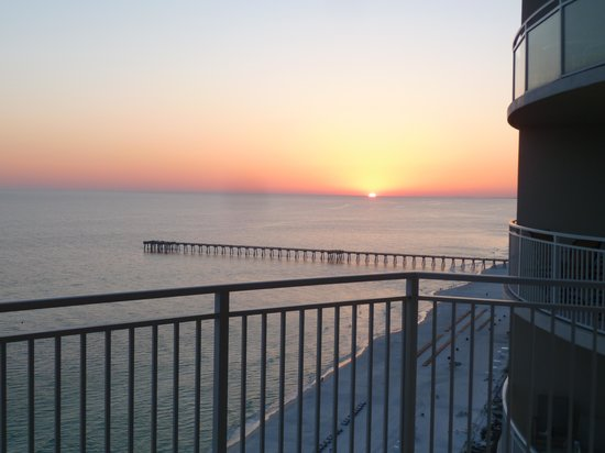 Aqua: View of sunset from balcony