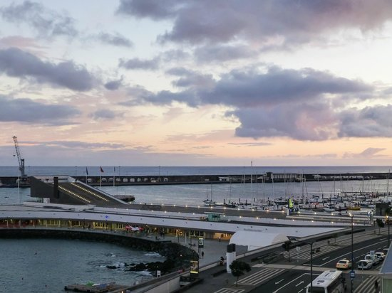 Hotel Marina Atlantico: View from room 410 at sunset