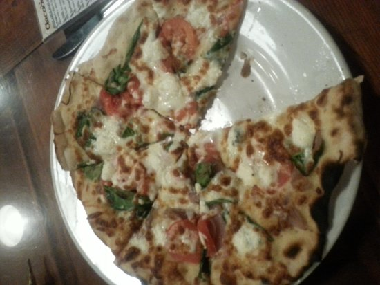 Arcadia Ales: the goat cheese pizza