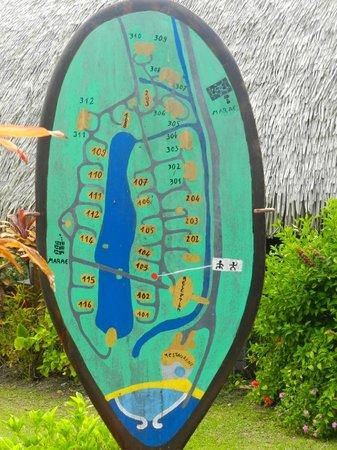 Maitai Lapita Village Huahine : plan de l'hotel