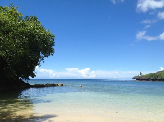 Savasi Island Villas: Pristine private beach below Blue Lagoon Villas