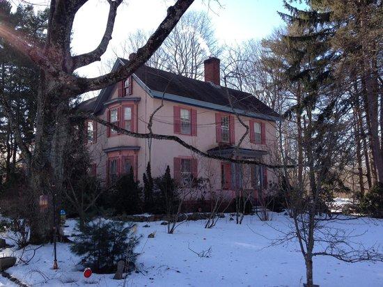Hawthorne Inn: A snowy front view of the Inn