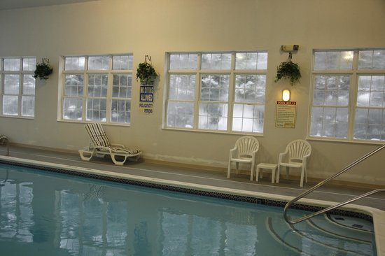Magnuson Grand Hotel Lakefront Paradise: Swimming Pool, with pretty Winter background