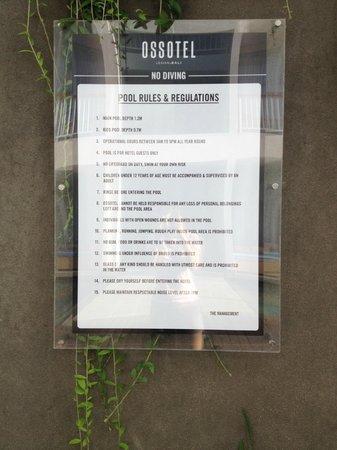 Ossotel: pool regulation