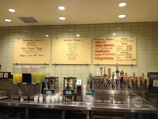 drinks menu - picture of tender greens  irvine