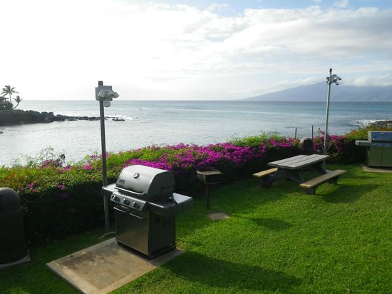 Napili Point Resort : Grilling is more fun with this view!