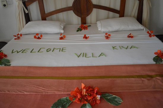 Villa Kiva Resort and Restaurant: Nice touch!