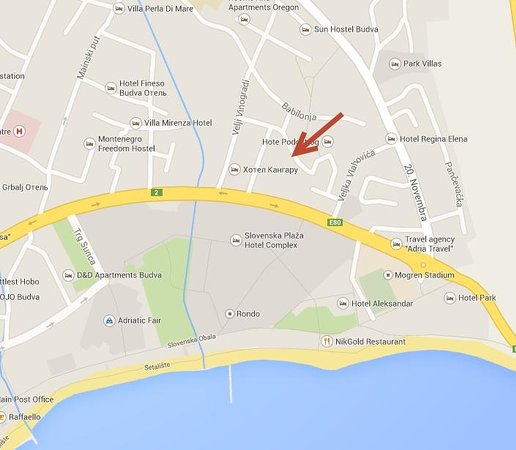 Vila Andjela : Расположение