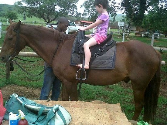 Lydenrust Guest Farm: Abi on a horse