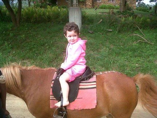 Lydenrust Guest Farm: Nikita on a horse