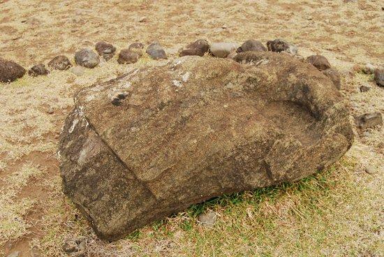 Ahu Akahanga: Toppled moai