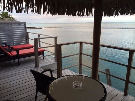 InterContinental Moorea Resort & Spa: the view from our overwater bungalow