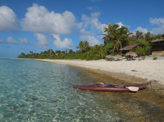 Le Kuriri : specchio mare\spiaggia Maupiti