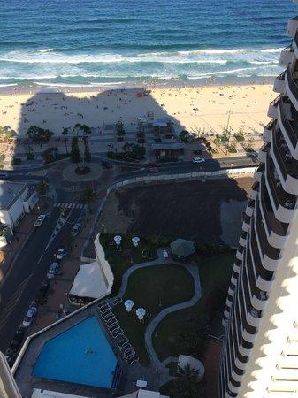 Beachcomber Resort Surfers Paradise: 25th Floor Balcony view