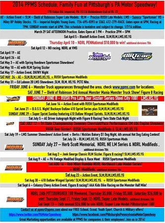 Imperial, PA: 2014 PPMS SCHEDULE