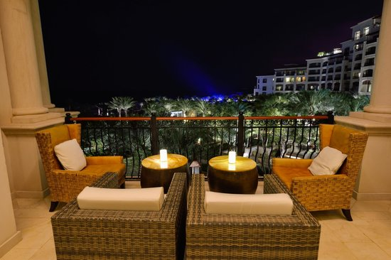 The St. Regis Saadiyat Island Resort: View from one of the outdoor seating areas