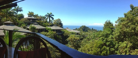 Tulemar Bungalows & Villas: What a view from the deck!