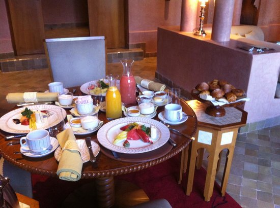 Amanjena: exquisite breakfast