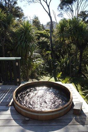 Driving Creek Villas: Hot tub - Moehau Villa