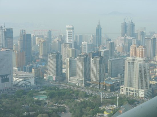 Dalian Sightseeing Tower: Вид на Далянь сверху