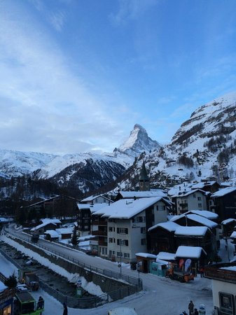 Hotel Parnass: View from my balcony to the Matterhorn