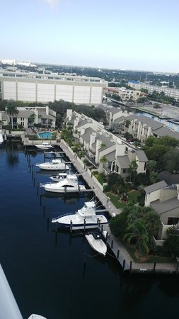Hilton Fort Lauderdale Marina: View from my balcony