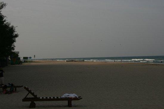 Nilaveli Beach Hotel: Der Blick auf den Strand vom Restaurant aus ...