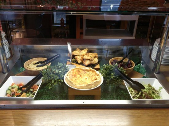 The Refectory at Southwark Cathedral: Refectory selection of salads