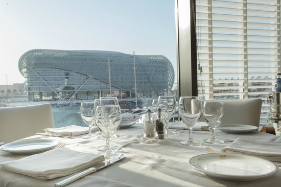 Cipriani Yas Island : Roof to floor windows overlooking stunning Yas Marina...