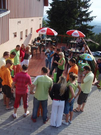 Pension Panorama: summer terrace - ideal for meeting friends, family events...