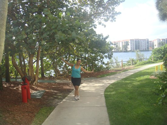 Hilton Miami Airport: Pista de caminhada