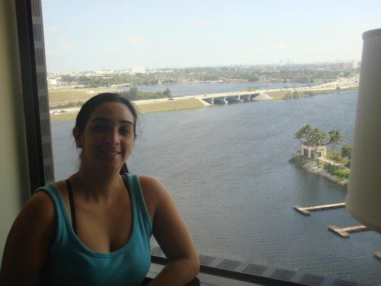 Hilton Miami Airport: Ótima visão do quarto