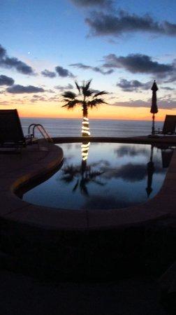 Arriba de la Roca: pool at dusk