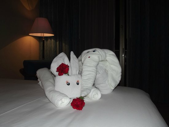"Iberostar Cancun: The ""Zoo"" in our room - loved the towel animals"