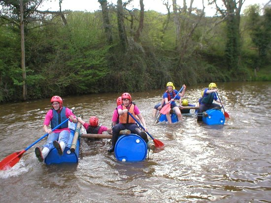 Ashcombe Adventure Centre Ltd: Raft Building