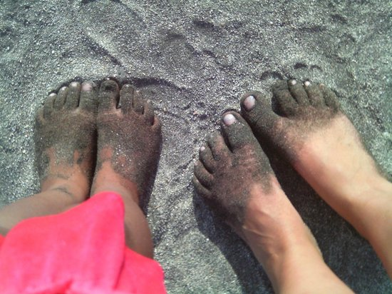 GF Isabel: This is what happens when your on the beach!