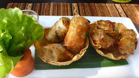 3 Nagas Restaurant: fried spring rolls