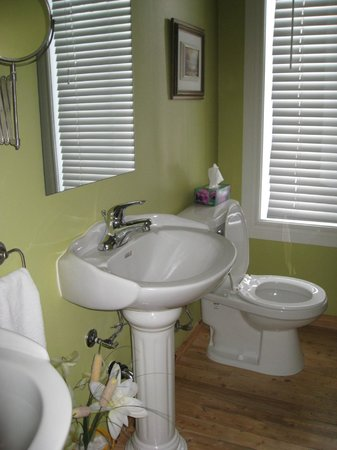 La Grange aux Hiboux : Cabinet toilette avec douche commune