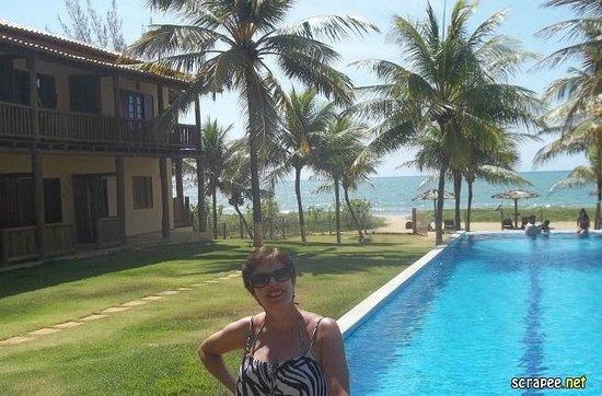 Pousada Praia das Ondas : Vista da praia e da piscina, SHOW! Amei!!!